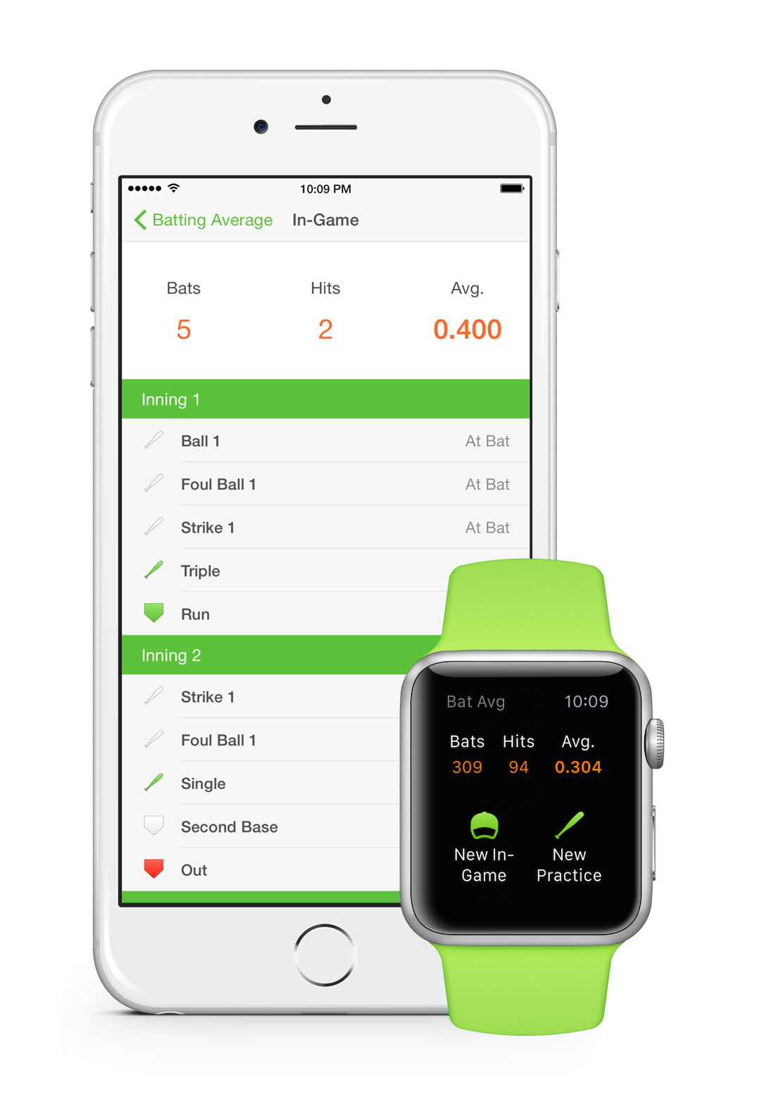 Batting Average for Apple Watch & iPhone